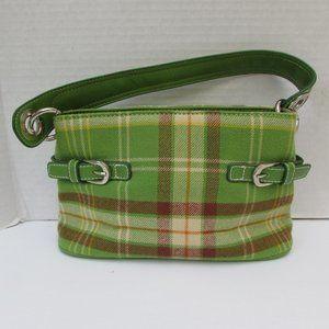 Tommy Hilfiger Green Plaid Handbag Purse